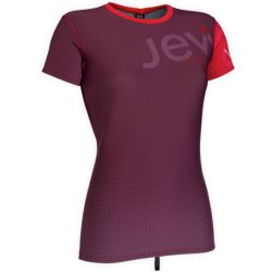 Lycra Ion NEO TOP WOMEN 2/1 SS AUBERGINE/RED