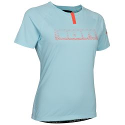 Maglietta Ion BUTTON TEE SS TRAZE WMN CRYSTAL BLUE