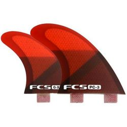 Pinne da Surf FCS RED SLICE QUAD SET SMALL