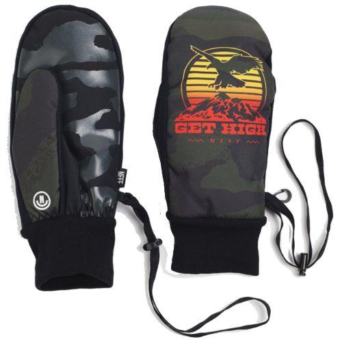 Snowboard Gloves Neff CHARACTER MITT NU CAMO
