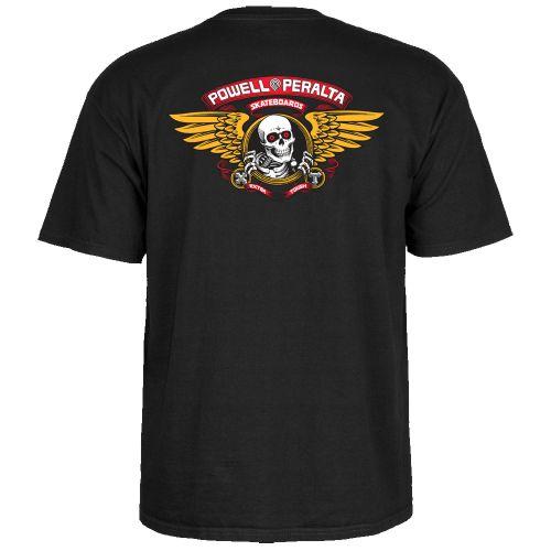 T-Shirt Powel Peralta WINGED RIP TEE BLACK