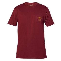 Maglietta Fox WRENCHED POCKET SS PREMIUM TEE CRANBERRY 2021