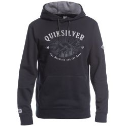Felpa Quiksilver BIG LOGO SNOW HOODIE BLACK 2021