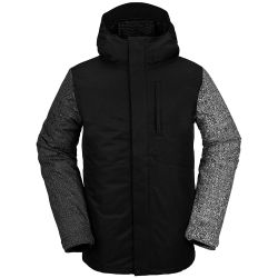 Giacca Snowboard Volcom 17FORTY INSULATED JACKET BLACK CHECK 2021