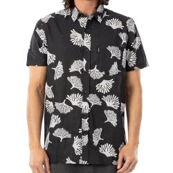 Camicia Rip Curl SWC S/S SHIRT WASHED BLACK 2021