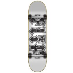 "Complete Skateboard Flip HKD THRASHED WHITE 7.75"""