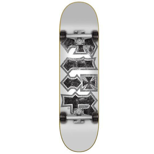 "Skate Completo Flip HKD THRASHED WHITE 7.75"""