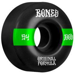 Ruote Skate Bones 100'S WIDE BLACK 54MM