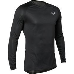 Magliette Bike Fox TECBASE LS BLACK 2021